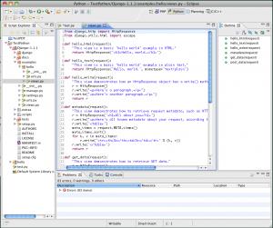 Eclipse Galileo Python Example