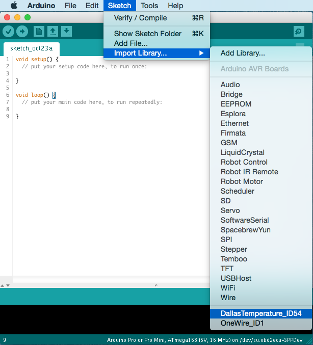 Arduino IDE Libraries: After